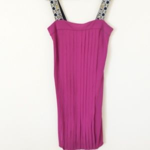 Tory Burch NWOT Pink Pleated Mini Dress